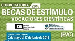 Convocatoria 2016 para becas del CIN
