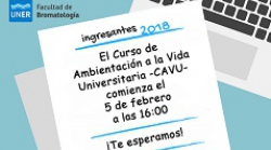 CAVU 2018: Horarios