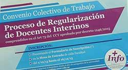Proceso de Regularizaci�n de Docentes Interinos